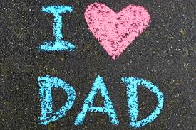 I Love Dad chalk